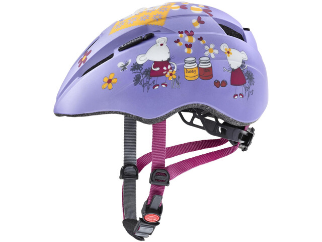 UVEX Kid 2 CC Helm Kinderen, lilac mouse mat
